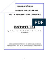 ESTATUTO Federacion de Bomberos Voluntarios de Córdoba
