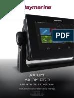 Axiom, Axiom Pro, LightHouse v3-7 Instrucciones de instalación y manejo 81380-2-ES