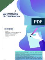 MANIFESTACIÓN DE CONSTRUCCIÓN