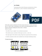 ADXL335 Accelerometer Module