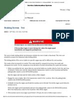 verificación de capacidad de frenado