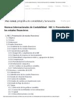 NIC 1_ Presentación de los estados financieros - Normas Internacionales de Contabilidad - Plan General Contable