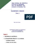 Notas de Transporte Urbano Tema I UCV