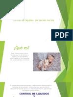 Control de líquidos  del recién nacido