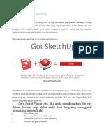 Cara Instal Plugin SketchUp
