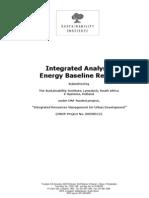 Integrated Analysis Energy Baseline Report