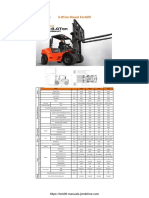 Goodsense FD50 60 70 80 Diesel Forklift Spec