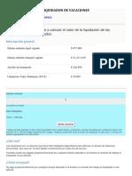 LIQUIDADOR DE VACACIONES  2020