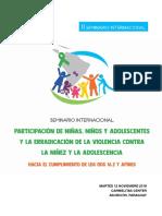 Sistematización II Seminario Internacional de Participación de Niñas, Niños y Adolescentes y ODS 16.2 - 12 Noviembre 2019