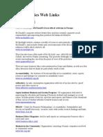 Useful Ethics Web Links
