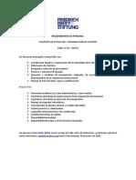 Requerimiento de Personal FES 2020