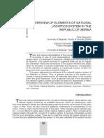 Elementi sistema nacionalne logistike