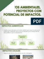 IMPACTOS AMBIENTALES, ECAS  Y  PROYECTOS CON POTENCIAL.pptx