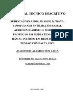 Memorial Descritivo AGRONOR