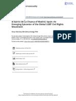 el barrio de La Chueca of Madrid Spain An Emerging Epicenter of the Global LGBT Civil Rights Movement