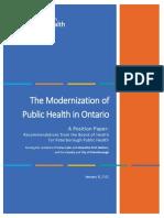 Peterborough Public Health board position paper on modernization of Ontario health units