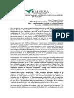 DOCTRINA IMPORTANTE ACCIDENTE DE TRABAJO