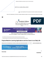 Ultimate List of Machine Learning Use Cases in our Day-to-Day Life