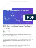 150+ Business Data Science Application in Python - Towards Data Science