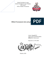 GCSL Official Tournament Rules and Guidelines v 1.1