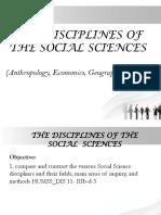 Lesson 2-Disciplines of SocSci (Part 1)