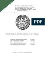 organizaciones de extensionismo agricola