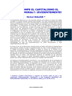 ¿CORROMPE EL CAPITALISMO EL SENTIDO MORAL ¡EVIDENTEMENTE!, Michel Walzer (1)