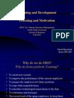 HRMSession 7 Training Development Learning Motivation