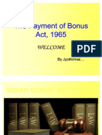 Payment of Bonus Act-1965