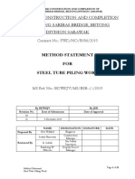 Method Statement- Tube Pilling Work
