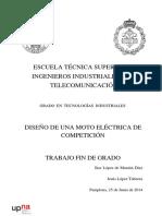 DISEÑO DE UNA MOTO ELÉCTRICA DE COMPETICIÓN