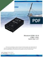 ModemCOM G10 Quick Start en CM1100