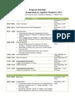 Program Schedule ISAC2015