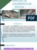 ANALISIS DE DESLIZAMIENTOS DE ROCAS