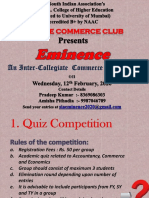 Eminence Inter Collegiate Event of The S.I.A. College final