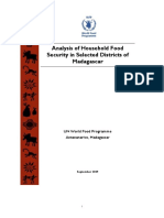 Analysis of Household Food Security in Selected Districts of Madagascar (September 2009)