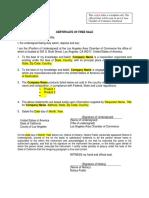 CertificateofFreeSaleTemplate