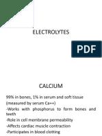 ELECTROLYTES CALCIUM MAGNESIUM CHLORIDE