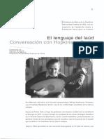 El lenguaje del laúd - Conversación con Hopkinson Smith