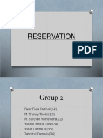 RESERVATION (group 2)