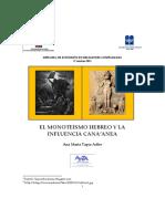 TAPIA ADLER, A. - El Monoteismo hebreo y la influencia cananea