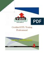 Certified ETL Testing Professional