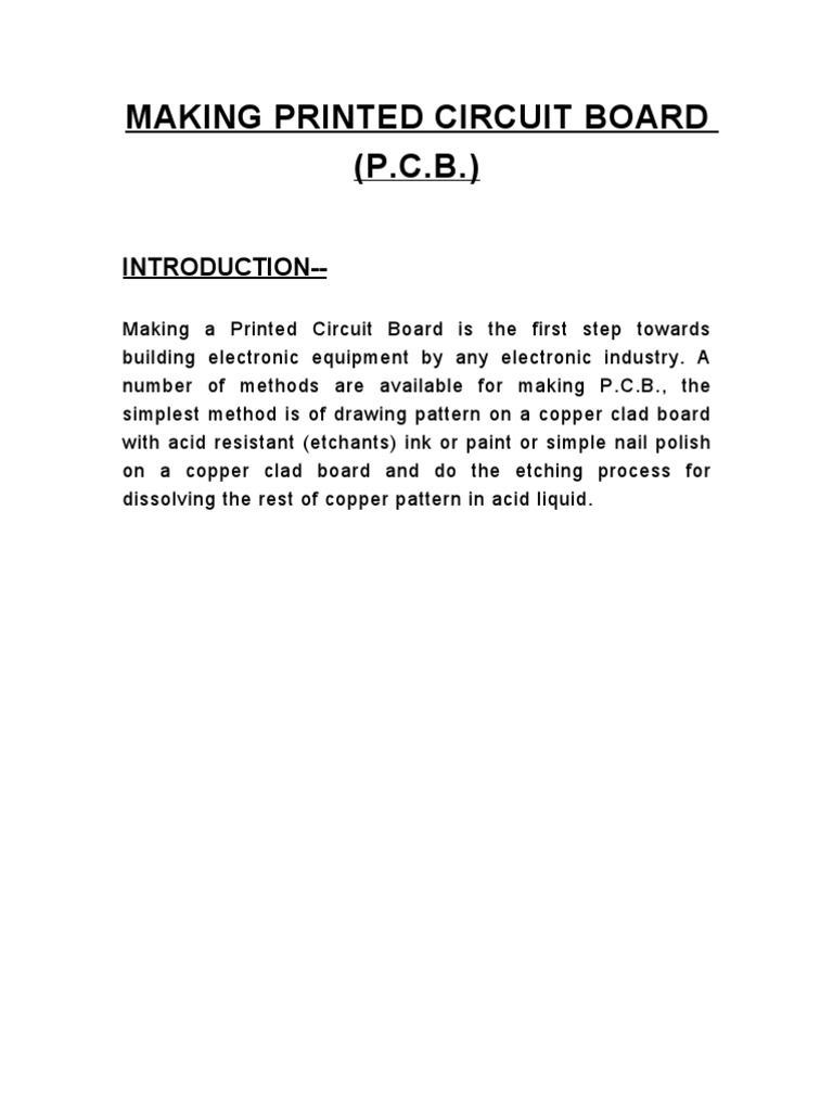 Pcb Printed Circuit Board Industrial Processes Making The