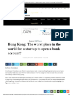 Hong Kong_ The worst place in the world for a startup to open a bank account