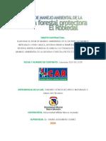 Plan de Manejo  Ambiental resrva forestal El Roble