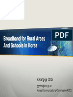 Broadband for Rural Areas and Schools in Korea