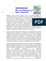 EUTROFIZAÇÃO ARTIFICIAL