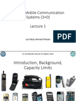 Mobile Communication Systems (3+0)- Lecture 1 (1)