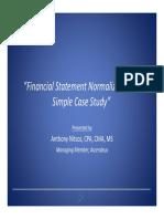 Financial Statement Normalization