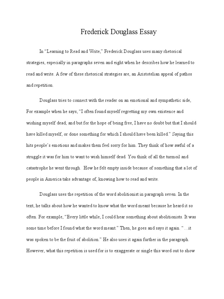 Richard Cory Analysis Essay Essay About Frederick Douglass Learning To Read And Write Frederick  Douglass Learning To Read And Write Essay India also Writing Expository Essay Essay About Frederick Douglass Learning To Read And Write Homework  Essay About Leader